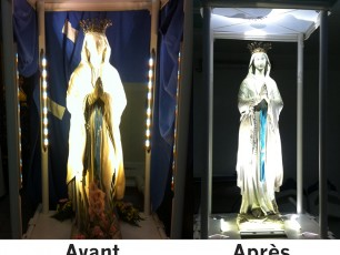 Virgin of procession in Lourdes